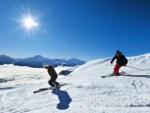 Mit der Badehose auf die Skier