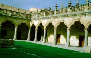 Spanien Salamanca Alte Universitaet Innenhof