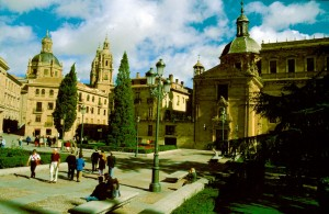 Spanien Salamanca Alte und Neue Kathedrale