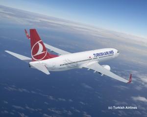 Turkish Airlines über den Wolken