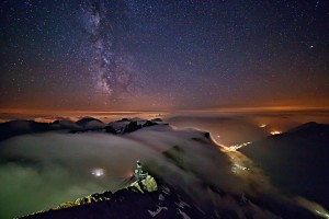 Silvester-Fondue auf der Zugspitze