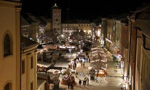 Christkindlmarkt in Traunstein auf dem Stadtplatz. © Willy Reinmiedl, BSW-Fotogruppe Traunstein