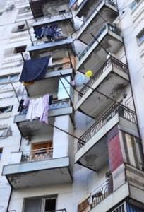 Typische Vororte von Tiflis