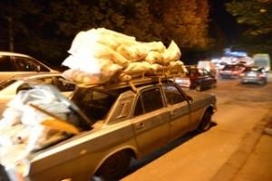 Typischer Verkehr in Tiflis