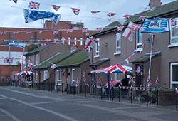 loyalistisch-protestantisches Wohngebiet in Belfast