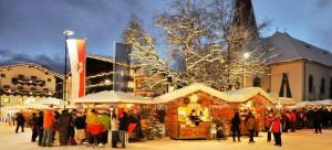 Blockhaushütten am Seefelder Marktplatz