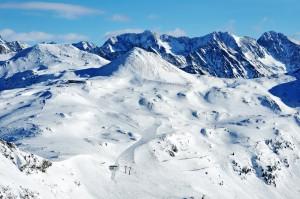 """100 Pistenkilometer gehören zur """"Schneeschüssel"""" Obertauern."""