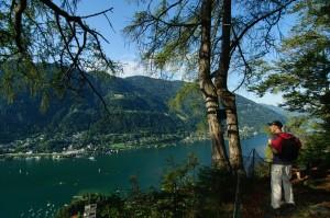 Blick vom Jungfernsprung auf den Ossiacher See. Foto: Region Villach Tourismus Adrian Hipp.