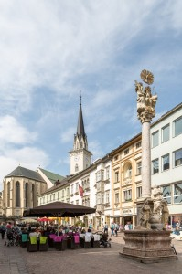 Der Hauptplatz in Villach. Foto:.Region Villach Tourismus.LIK Fotoakademie Josef Fischer