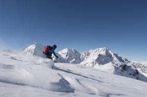 Skifahren unter Südtirols höchstem Gipfel