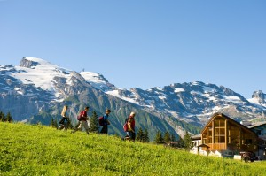 Beliebtes Wanderziel: Die Berglodge Ristis. Foto: Engelberg-Titlis/Fotograf Christian Perret