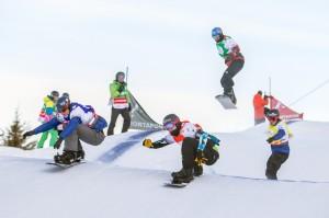 Die Elite der Ski Cross Athleten beim Audi FIS Ski Cross Weltcup. Foto: Montafon Tourismus/Stefan Kothner