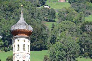 Kirchturm in Schruns