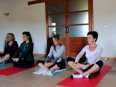 k-1-Yoga in der Finca