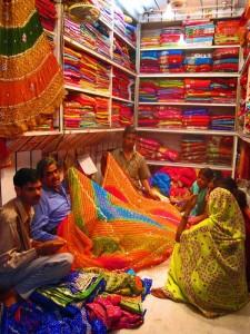 Stoffmarkt in Jaipur