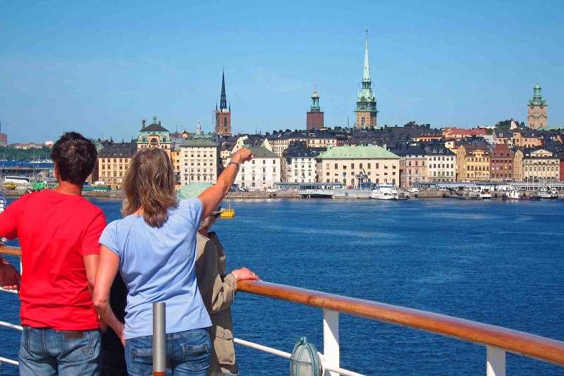 Einfahrt in Stockholm