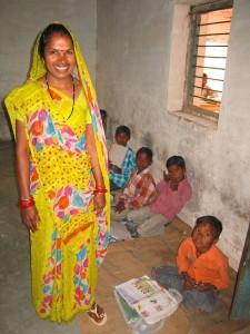 Anita, Dorfschullehrerin in Dhramapura