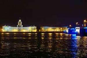 Magie des Wassers, die Akademie der Wissenschaften und Kunstkammer an der Neva