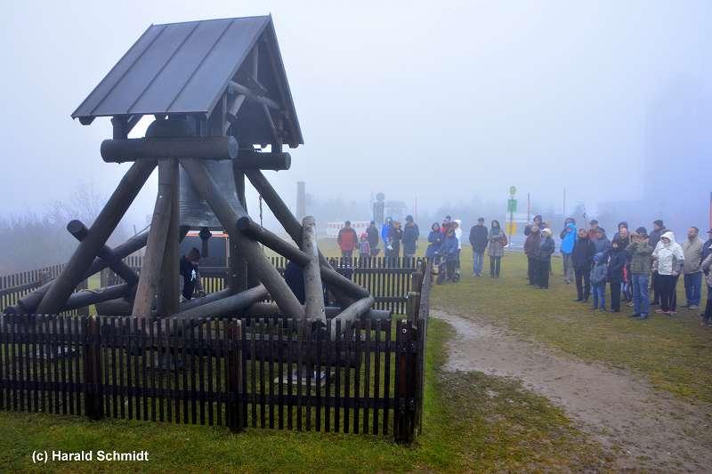 Harald Schmidt Friedensglocke auf dem Fichtelberg
