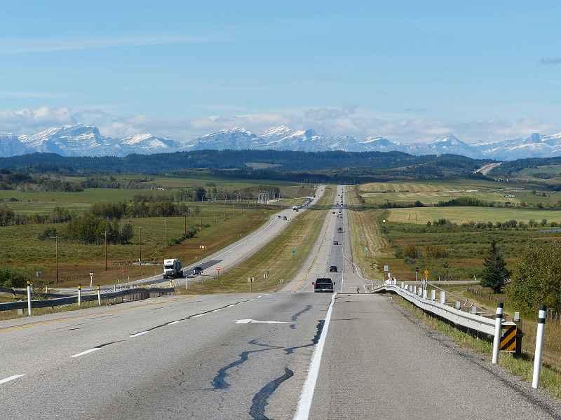 k-Transcanadahighyway zwischen Calgary und Banff