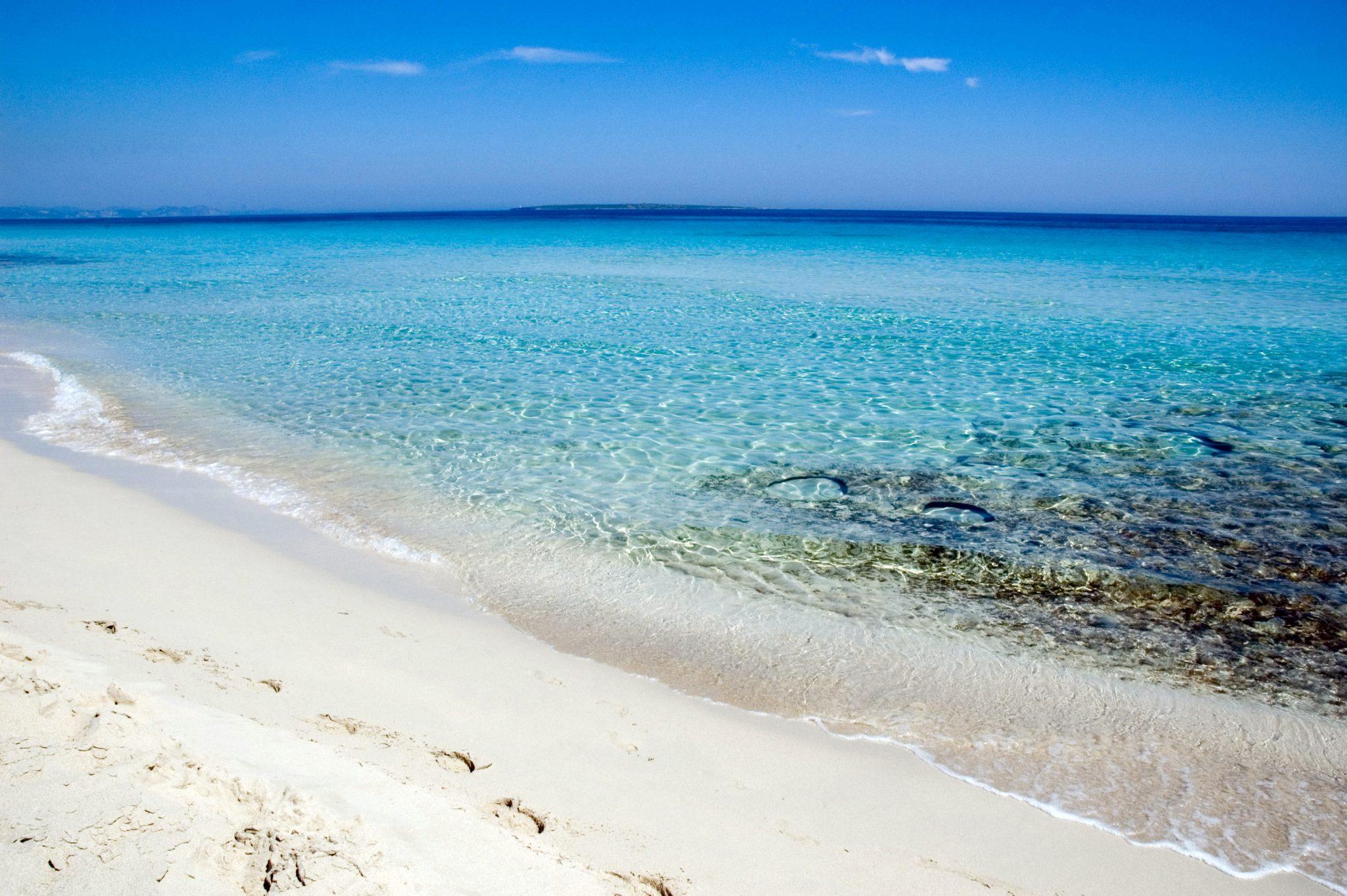 Weißer Strand von Formentera