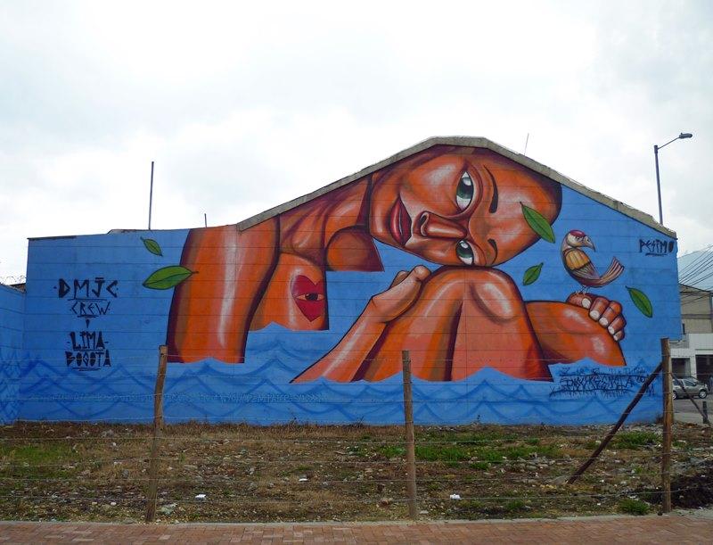 Künstler aus Peru (Entes und Pesimo) gestalteten diese Wand in der Calle 26