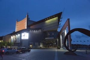 Oper Göteburg in der Dämmerung