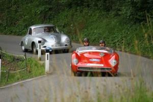 Die historische Silvretta Classic Rallye Montafon startet in Partenen. Foto: Montafon Tourismus/Motor Presse Stuttgart
