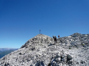 Siebenstündige Wanderung zum Gipfel der Sulzfluh. Foto: Christina Wachter Schruns Montafon Tourismus