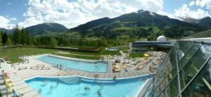Die Alpentherme bekommt ihr Wasser direkt von den Quellen.