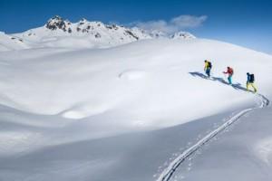 Die Madrisa-Rundtour führt in die Schweiz und zurück. Foto: Montafon Tourismus/Stefan Kothner