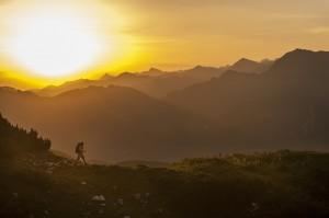 Morgenwanderung auf dem Gamskogel. Foto; Liftgesellschaft Zauchensee, Hans Huber